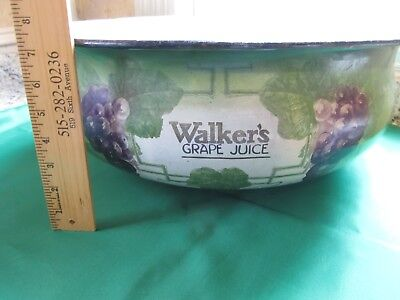 ANTIQUE Welch's Grape Juice EXCELLENT Collectible Porcelain Wash Basin