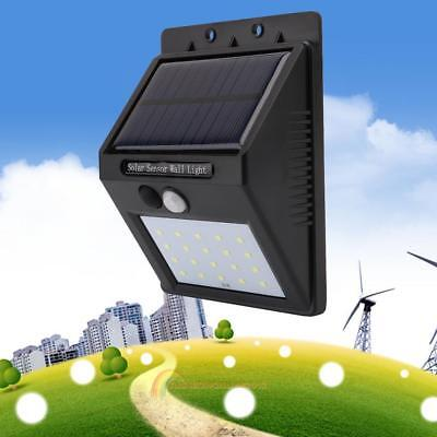 20 LED Waterproof Solar Powered PIR Motion Sensor Wall Light Outdoor Garden Lamp