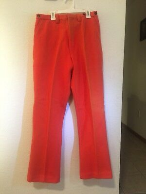 Vintage Melton Men's Heavy Wool Blaze Orange Hunting Winter Pants Sz 32 X 32 NWT