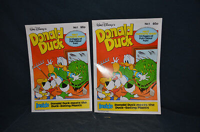 Lot of Two Walt Disney - Donald Duck - First Fantastic Issue #1 Comic Book
