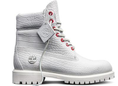 Timberland Limited Release White Serpent kid Boots (TB0A1PKX) Size 4-6.5