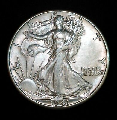 1941-P Au/unc Walking Liberty 1/2 Dollar