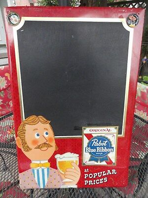"1960's/70's PABST BLUE RIBBON BEER Chalkboard Sign 17"" x 26"""