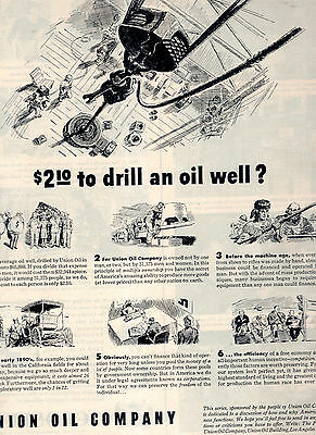Union Oil Company Of California Full Page Magazine Ad--In Plastic Sleeve-Vintage
