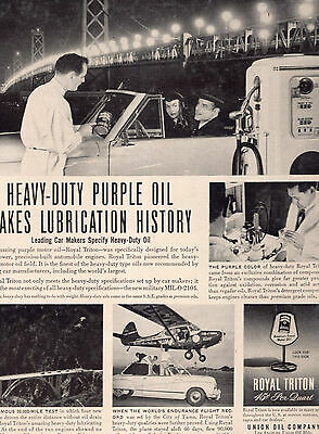 Union Oil Company Purple Oil Full Page Magazine Ad-In Plastic Sleeve-Vintage