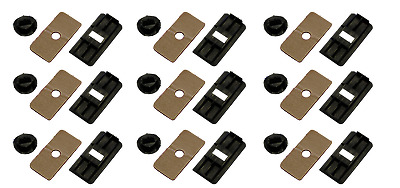 Aunger Louvre Fitting Kit Rear Louvre Mounting Clips Set of 9