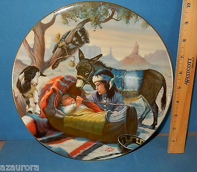 PERILLO PAPOOSE NAVAJO CHILD BABY BURRO MONUMENT VALLEY LG WESTERN PLATE horse