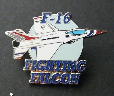 Fighting Falcon Usaf Aircraft F-16 Air Force Lapel Hat Pin 1.5 Inches