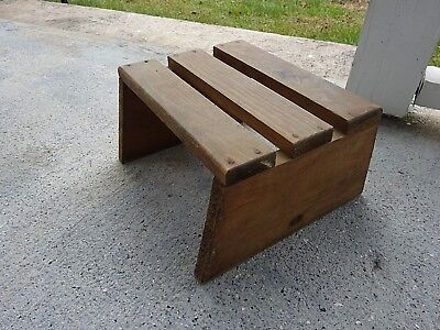 Rustic Primitive Farm Country Vintage Hand Made PINE Wood Wooden Stool