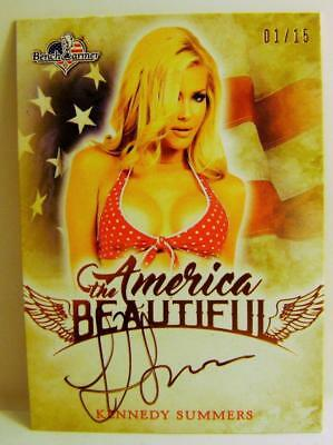 Kennedy Summers Autograph Auto 1/15 America The Beautiful Bench Warmer 2017 Rare