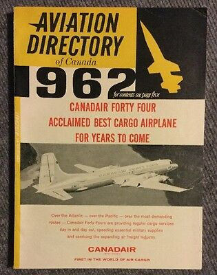 Vintage 1962 Aviation directory Of Canada FREE Shipping