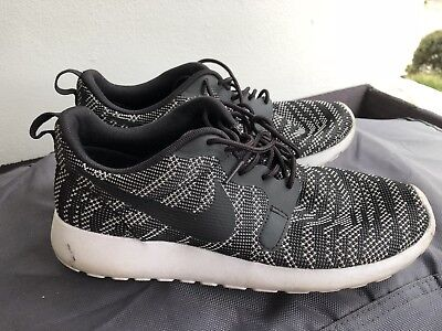 Womens Nike Roshe Striped Zebra Pattern Trainers Runners Sneakers Shoes Sz 7.5