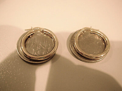 9Ct Solid Gold Earrings - Made In Italy - 2.5 Cms Diameter - Hardly Worn.