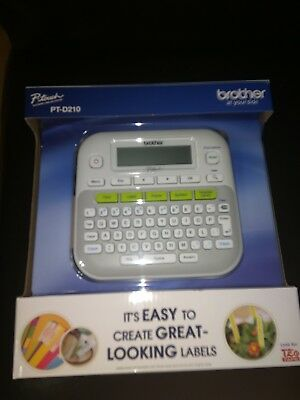 Brother Pt-D210 P-Touch Electronic Labeling System Label Maker *brand New In Box