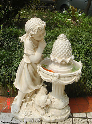 New Fashion Country girl fountain European Home Furnishing Decoration