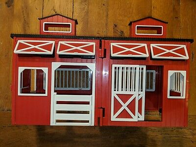 Barn Toy Kids Big Red Barn  Horse Stable In good  condition Pretend Play