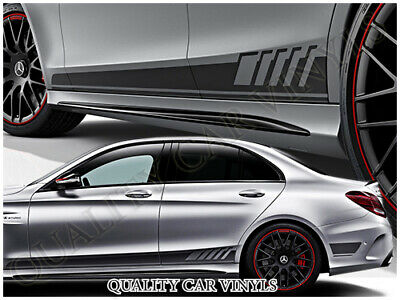 Mercedes AMG C63 Edition 1 Side Racing Stripes Graphic Decals  3 - 5 door RS150