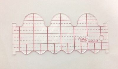 Quilting ruler template (wave & scallop)