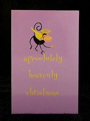 "SHAG Rare 2003 ""APESOLUTELY HEAVENLY CHRISTMAS"" Mini Greeting- Pop Note Card NEW"