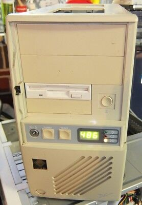 RARE Classic Mini Tower AT computer case from the 1990s for 386 486 Pentium 1