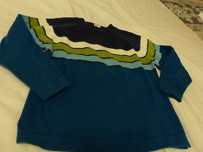 Boys blue striped sweater size 4-5