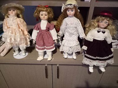Bulk lot - The Heritage Mint Collection 40cm Porcelain Dolls - GREENVALE VIC