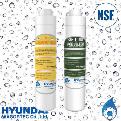 HYUNDAI Sediment + Carbon Replacement Cartridge Pack for Twin Under Sink Filter