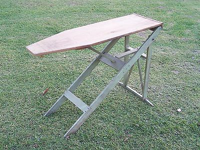 Antique Primitive Wood FULL Size Ironing Board Table Planter Re-purpose Paint