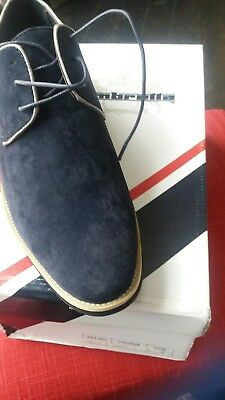 New Boxed Designer Mens Shoes By Lambretta Size 8 Navy