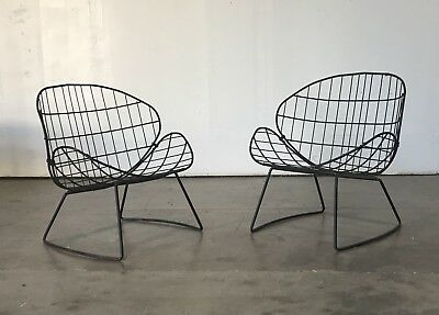 Homecrest Vtg Mid Century Modern Wrought Iron Patio Lounge Chair Sofa Salterini