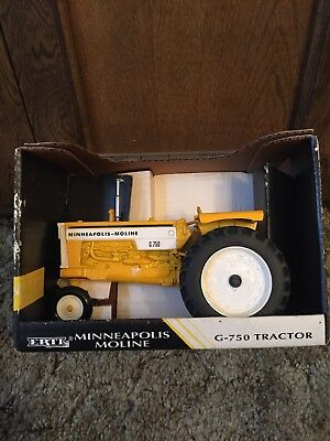 Ertl Minneapolis Moline G-750 Tractor with Stickers 1/16  Die Cast Metal NOS