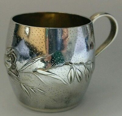French Antique solid silver Christening/ Childs mug/ cup, Art Nouveau 1900c