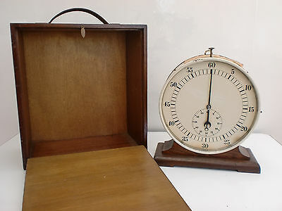 Large Vintage Cased Stopwatch Clock Ambulance Corps Midland Railway Works Derby