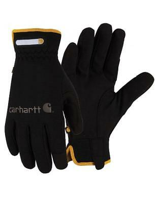 CARHARTT Mens / Womens *SMALL Black QUICK FLEX GLOVES Spandex Mechanic Work A547