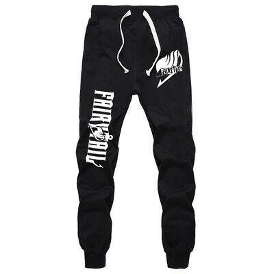 Anime Fairy Tail Cotton Pants Casual Sports Trousers Sweatpants Sportswear Hot