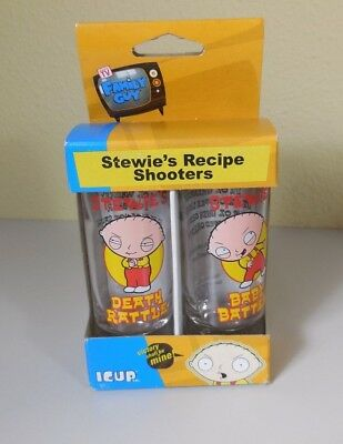 Family Guy Stewie's Recipe Shooters ICUP Set of 2 NEW 2005