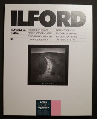 Ilford 11x14 Glossy 50 sheets Photographic Paper Black and White Multigrade FB