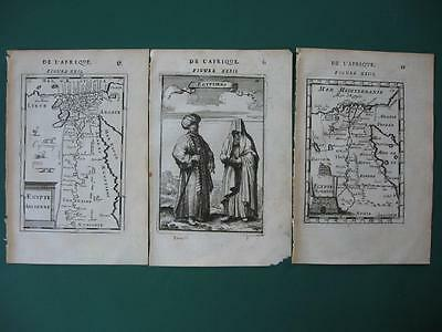 1683 - MALLET - EGYPT Two maps Ancient and Modern + Print