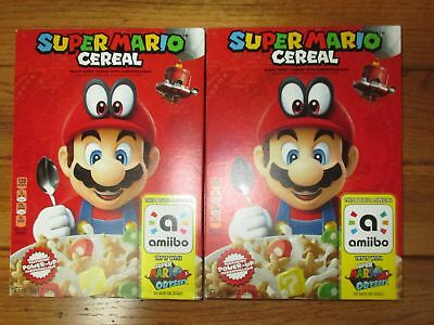 2 Super Mario Odyssey Limited Edition Kelloggs Cereal For Nintendo Switch Sealed