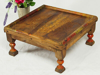 antik orient massivhloz Tisch Teetisch Hocker antique Afghan table 41x41 cm 18/G