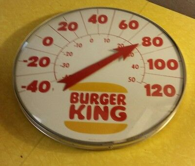 Huge Vintage BURGER KING > advertising thermometer sign > Antique gas station