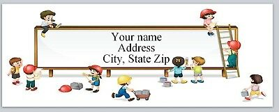 Personalized address labels Children Playing Buy 3 get 1 free (xac 800)