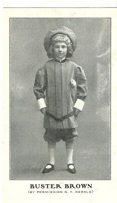 1900-1910 Buster Brown Early Stage Play Photo Postcard Comic Character NY Herald