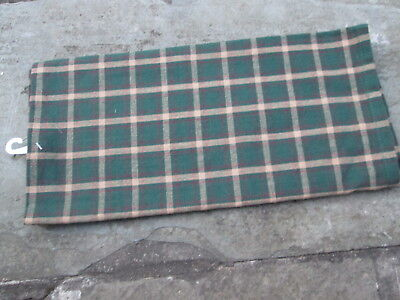 Colonial Christmas 18Th C Towel Green Red Tavern Plaid Williamsburg Style New