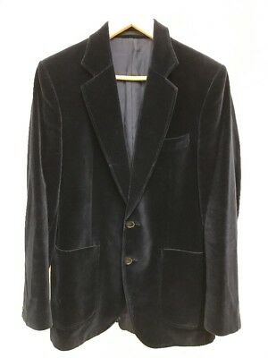 Vintage St Michael Marks & Spencer Cotton Velvet Blazer Jacket Sz Medium 37-38""