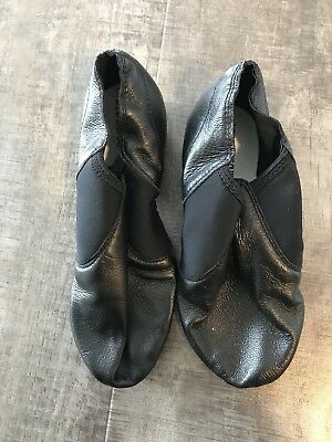 LIBERTS Womens Black Leather SIZE 6 Split Sole Jazz Dance Shoes Style 377