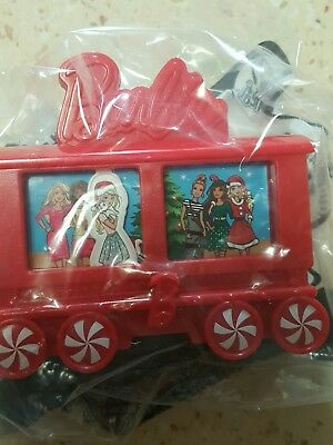 """McDonalds Happy Meal Holiday Express """"BARBIE"""" TRAIN CAR  Brand New in Pack"""