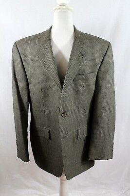 Men's Lauren Ralph Lauren 38S Blazer Sport Coat Herringbone Brown Tan Black wool