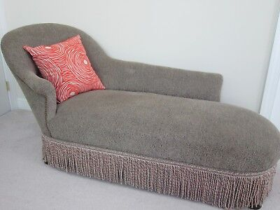 French Antique Chaise Lounge Chair Circa 1850