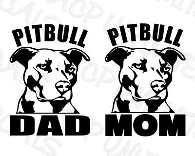 X2 I Love My Pitbull Vinyl Decal Sticker Car Window Bumper Wall
